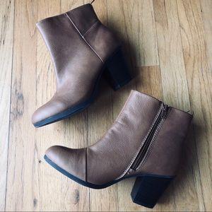 Shoes - Brown heeled booties